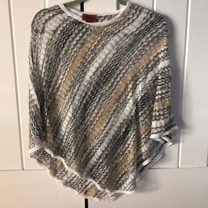 Missing Light wWeight Metallic Poncho 122867105